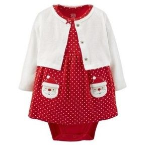 JUST ONE YOU CARTER'S - 2 PC - SWEATER & ONESIES